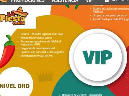 Bonos y promos VIP La Fiesta Casino