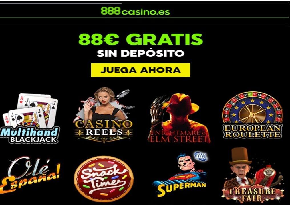 Casino 888 bono sin depósito hasta 88 euros