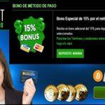 Por método de ingreso el Casino Cashpot entrega 15% adicional