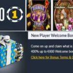 Bonos de bienvenida Casino 1 hasta por 400%