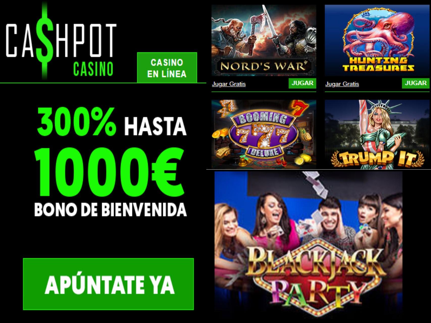 Ganar 1000 euros por bono de bienvenida en Casino Cashpot es muy fácil