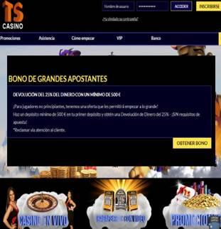 Bono de grandes apuestas por primer depósito Casino Times Square por un 25%
