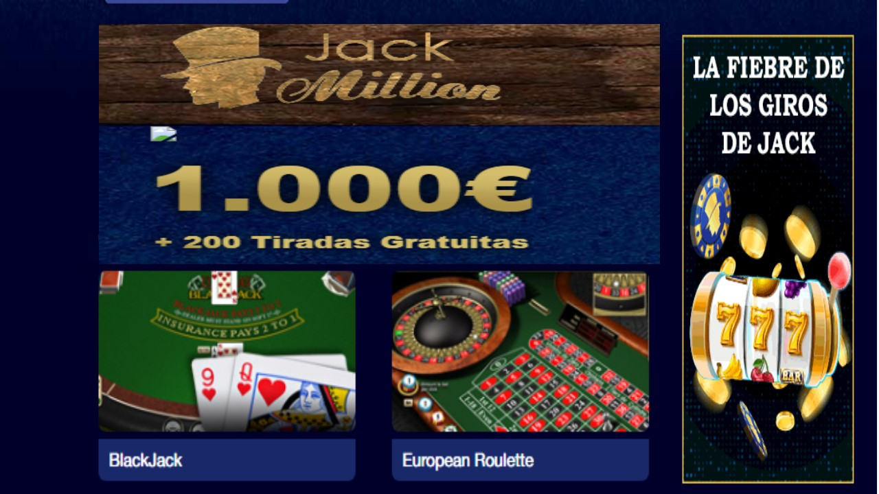 Lunes de giros gratis Casino Jack Million
