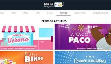 CanalBingo Codigo Promocional