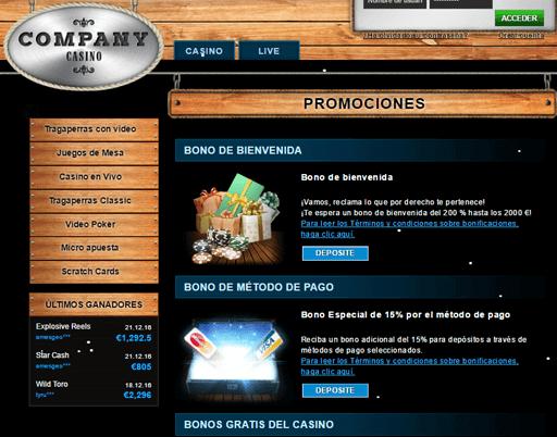 company casino promociones