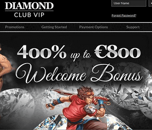 diamond club vip bono