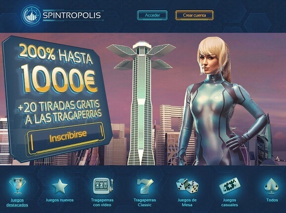 spintropolis casino bono de bienvenida