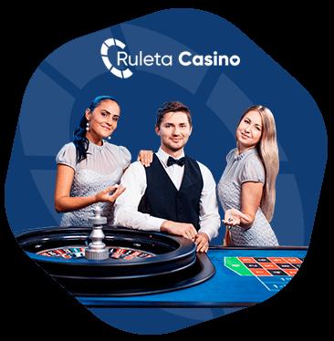 ruleta de casino con crupiers en directo